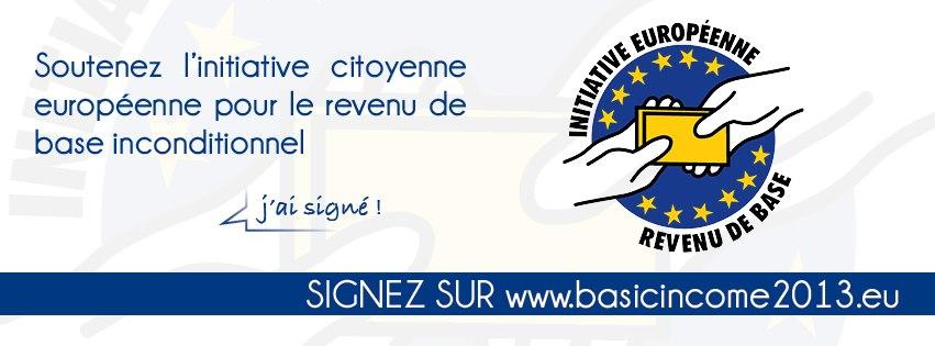Bannière revenu de base en français