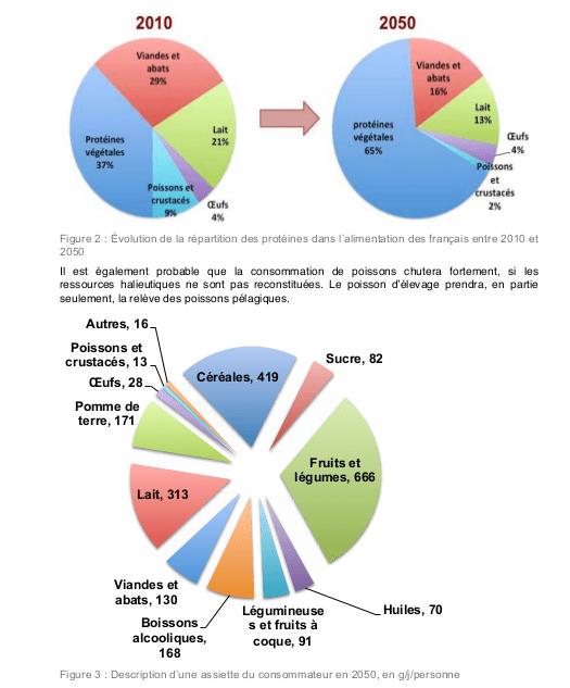 Composition de la ration alimentaire dans le scénarion  AFTERRE